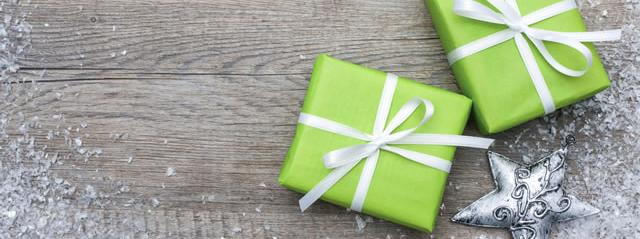 Green Gift Idea Banner